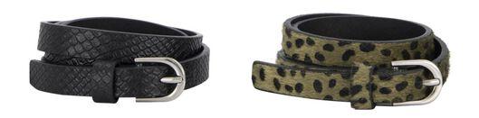 damesriemen croco/luipaard - 2 stuks groen groen - 1000023194 - HEMA