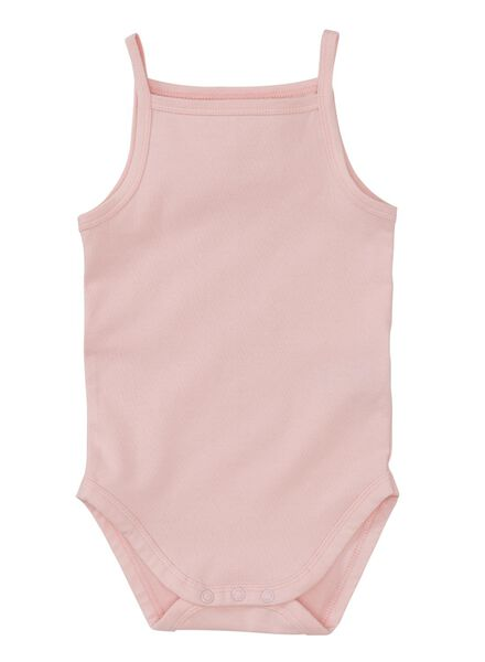 babyromper - biologisch katoen roze roze - 1000005031 - HEMA