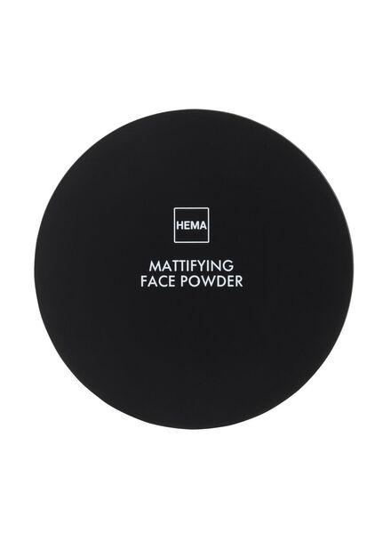 mattifying face powder beige medium - 11294726 - HEMA