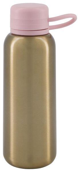 waterfles 300ml rvs goud/roze - 80600110 - HEMA