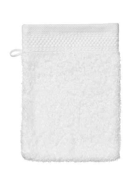washand - hotel extra zwaar - wit uni wit washandje - 5235010 - HEMA