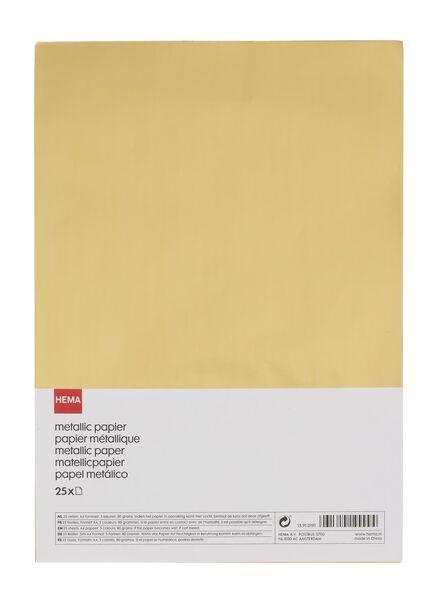 metallic papier A4 - 15910191 - HEMA
