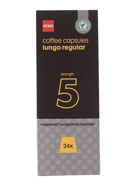 koffiecups lungo regular - 24 stuks - 17130007 - HEMA