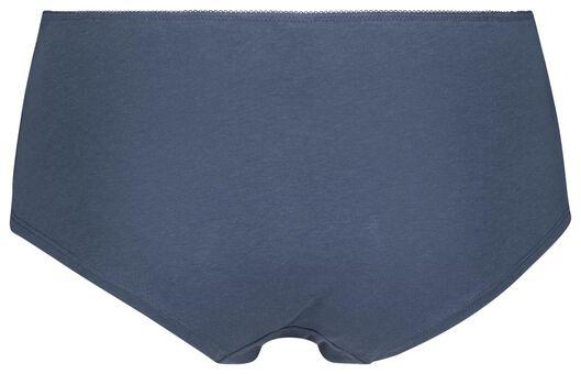 dameshipster kant middenblauw XL - 19698784 - HEMA