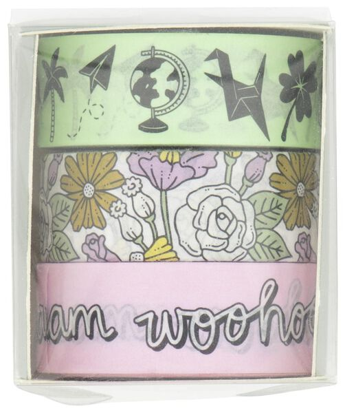 washi tapes - 3 stuks - 14132402 - HEMA