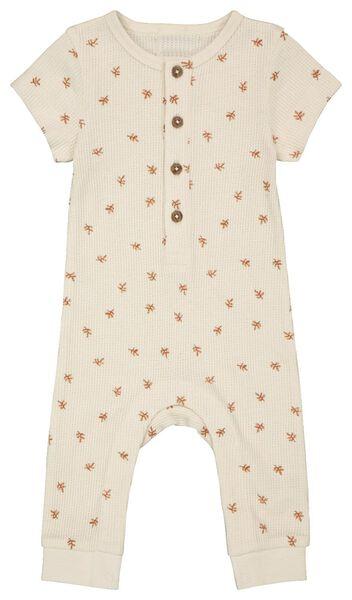 newborn jumpsuit wafel gebroken wit gebroken wit - 1000023384 - HEMA