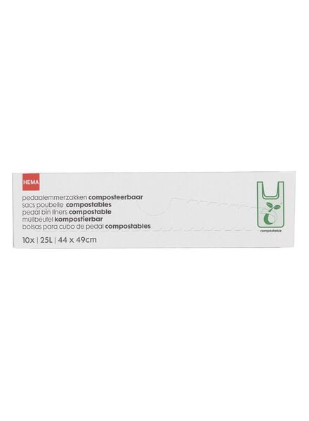 10-pak pedaalemmerzakken composteerbaar 25 L - 20500143 - HEMA