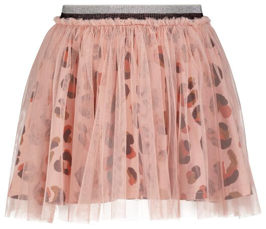 kinderrok met tule animal roze roze - 1000024724 - HEMA