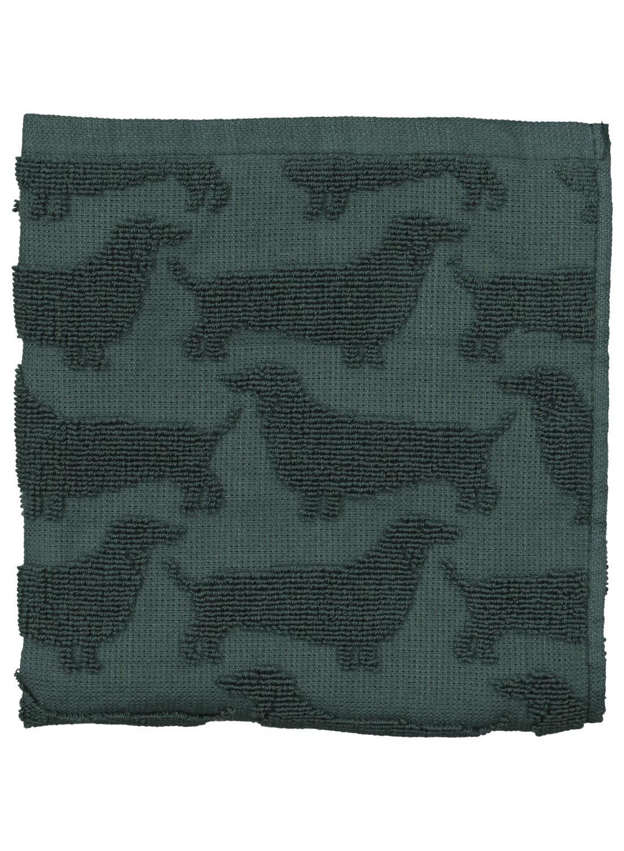 HEMA Keukendoek - 52 X 52 - Katoen - Groen Teckel (groen)