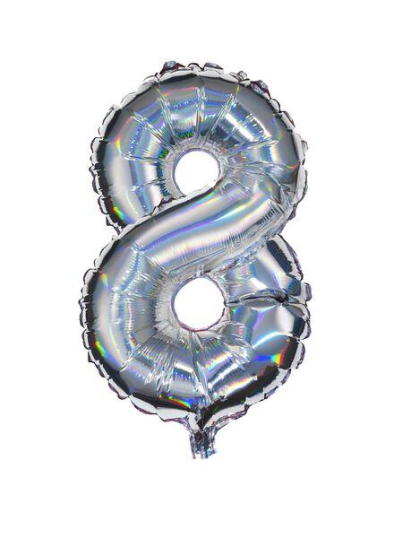 folieballon 8 - zilver 8 zilver - 60800466 - HEMA