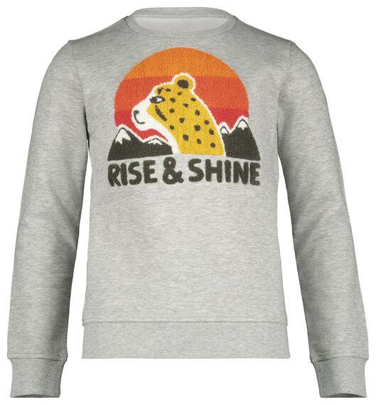 kindersweater grijsmelange grijsmelange - 1000020259 - HEMA