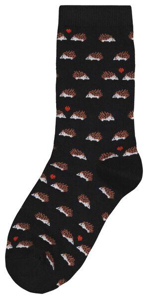 damessokken egel glitter zwart zwart - 1000025205 - HEMA