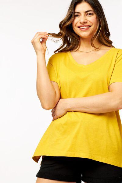 dames t-shirt geel geel - 1000023951 - HEMA