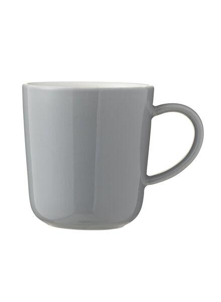 koffiemok - 130 ml - Chicago - grijs 130 ml lichtgrijs - 9650502 - HEMA