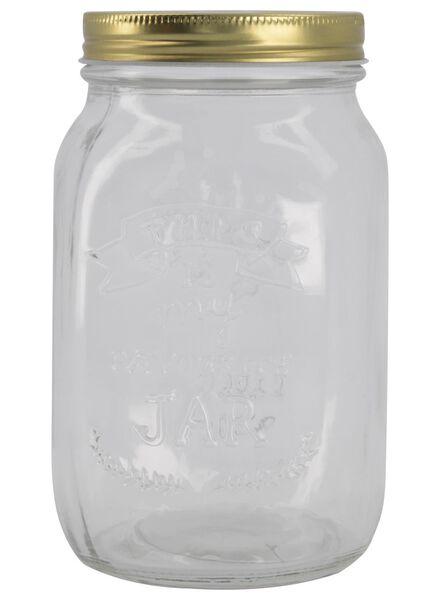 glazen pot enjoy 1 liter - 80810305 - HEMA