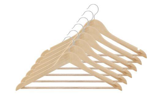 kledinghangers hout - 6 stuks - 39811003 - HEMA