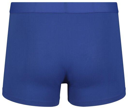 2-pak herenboxers kort recycled micro blauw blauw - 1000018776 - HEMA