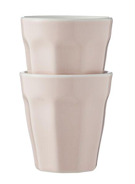mokken - 90 ml - Mirabeau - lichtroze - 2 stuks - 9680044 - HEMA