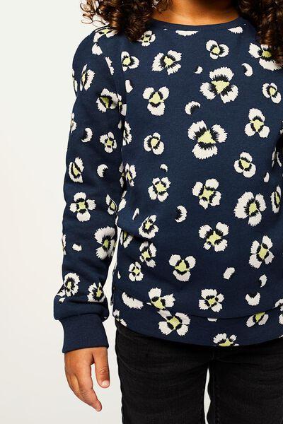 kindersweater donkerblauw 110/116 - 30861363 - HEMA