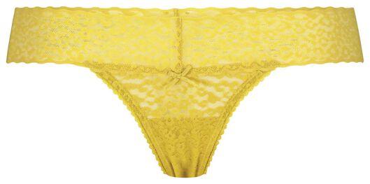 B.A.E. damesstring kant geel geel - 1000020419 - HEMA