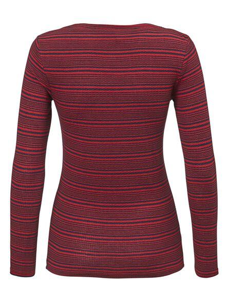 dames t-shirt donkerblauw M - 36297312 - HEMA