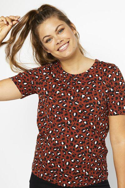 dames t-shirt bruin - 1000021347 - HEMA