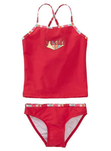 kindertankini rood rood - 1000011503 - HEMA