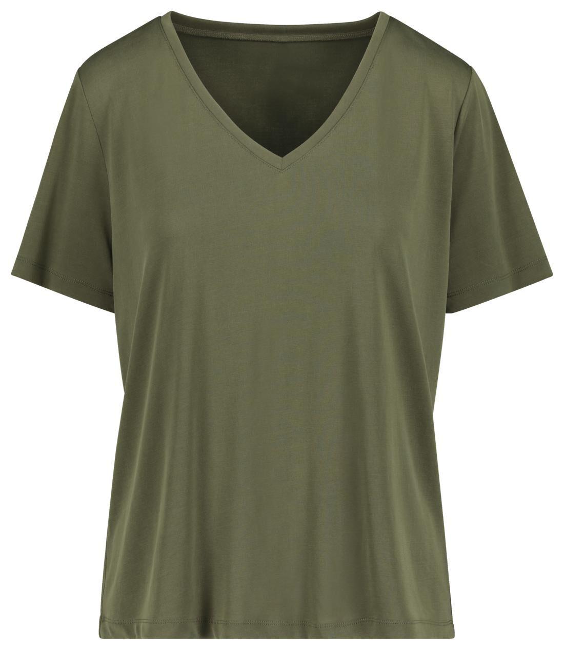 HEMA Dames T-shirt Olijf (olijf)