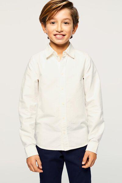 kinderoverhemd gebroken wit gebroken wit - 1000022435 - HEMA