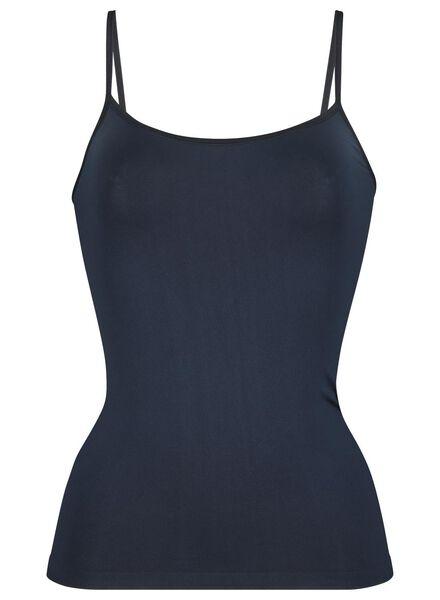 dameshemd naadloos micro donkerblauw donkerblauw - 1000015692 - HEMA
