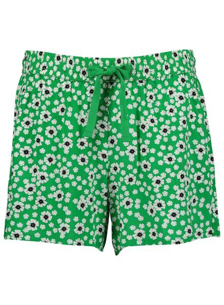 damesshort groen groen - 1000013722 - HEMA