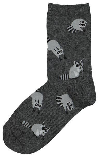 damessokken wasbeer grijsmelange grijsmelange - 1000020901 - HEMA
