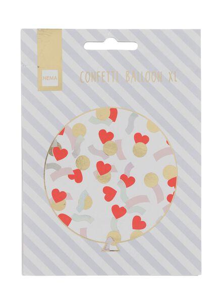 confetti ballonnen XL - 2 stuks - 60800428 - HEMA