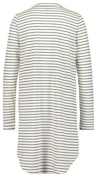 dames nachthemd zwart/wit - 1000021499 - HEMA