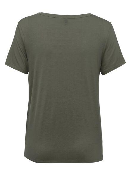 dames t-shirt olijf olijf - 1000011643 - HEMA
