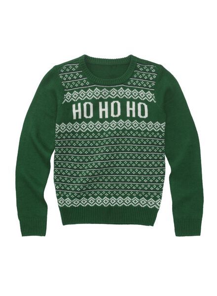 kinder kersttrui groen groen - 1000010752 - HEMA