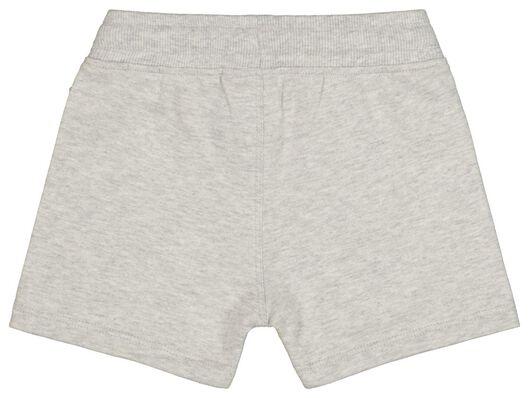 baby sweatshort grijsmelange grijsmelange - 1000017824 - HEMA