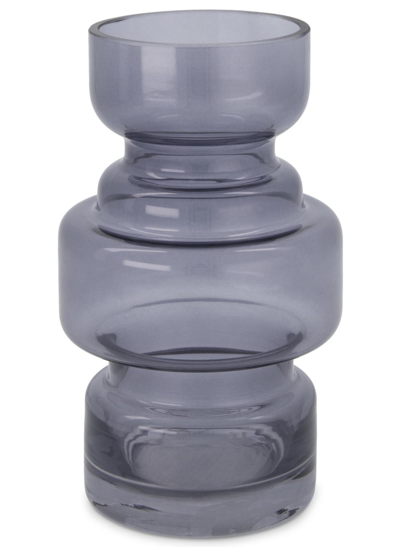HEMA Vaas – 17 X Ø 8 Cm – Grijs Transparant (grijs)