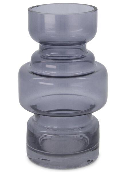 vaas - 17 x Ø 8 cm - grijs transparant - 13392027 - HEMA