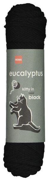 garen eucalyptus 83m zwart zwart eucalyptus - 1400204 - HEMA