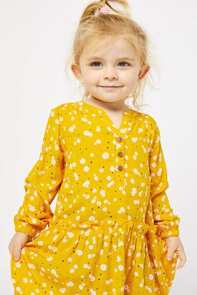 kinderjurk bloemen geel 86/92 - 30820640 - HEMA