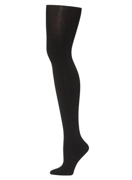 thermo panty 80 denier zwart zwart - 1000000729 - HEMA