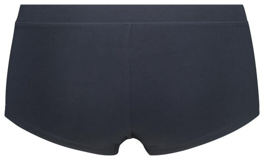 damesboxer real lasting cotton donkerblauw S - 19660791 - HEMA