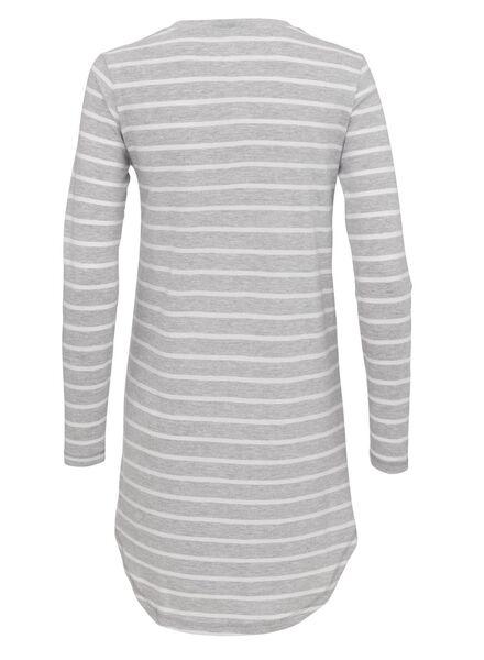 dames nachthemd katoen lichtgrijs lichtgrijs - 1000012245 - HEMA