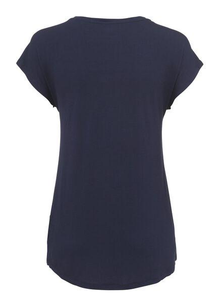 dames nacht t-shirt donkerblauw - 1000002884 - HEMA