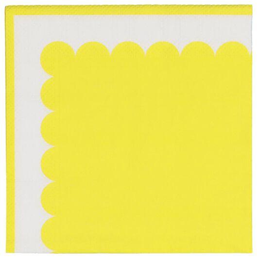 servetten - 24 x 24 - papier - geel - 20 stuks - 14210097 - HEMA