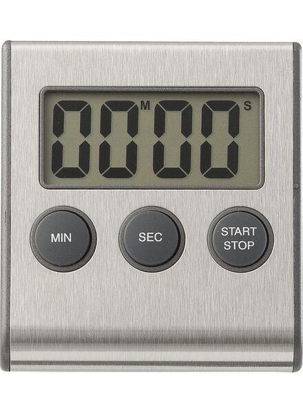 HEMA Kookwekker Digitaal Magnetisch Rvs (zilvergrijs)