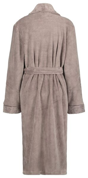 damesbadjas fleece taupe S/M - 23400321 - HEMA