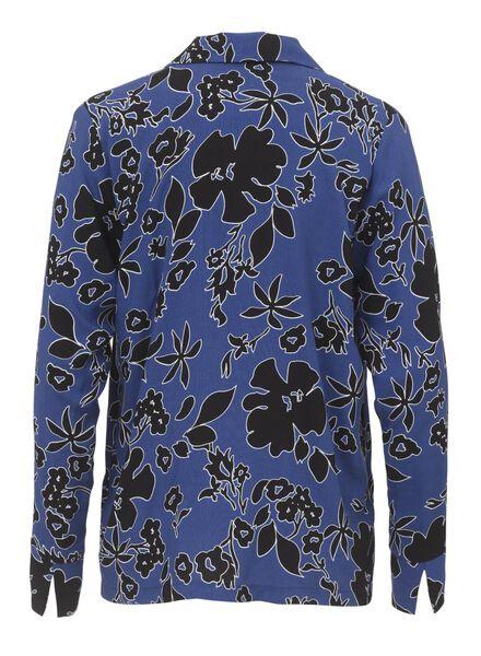 damesblouse blauw blauw - 1000011052 - HEMA