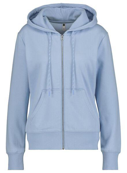 dames sweatvest blauw blauw - 1000014819 - HEMA